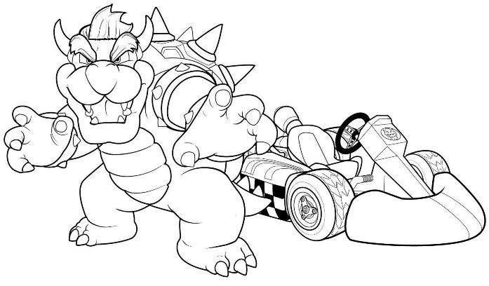 Mario Kart Wii Coloring Pages At Getdrawings Free Download