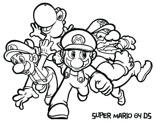 Mario Luigi Coloring Pages