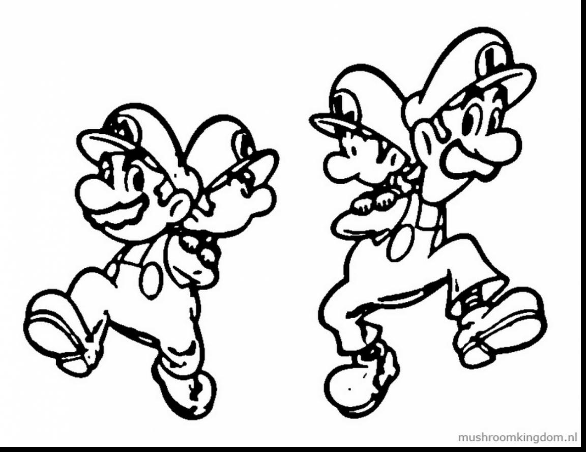 Mario Luigi Coloring Pages At Getdrawings Com Free For Personal