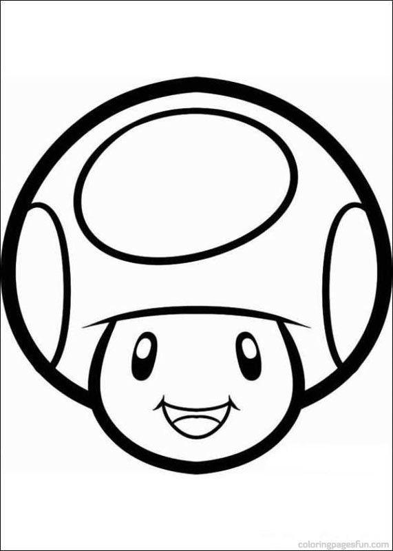 Mario Mushroom Coloring Page