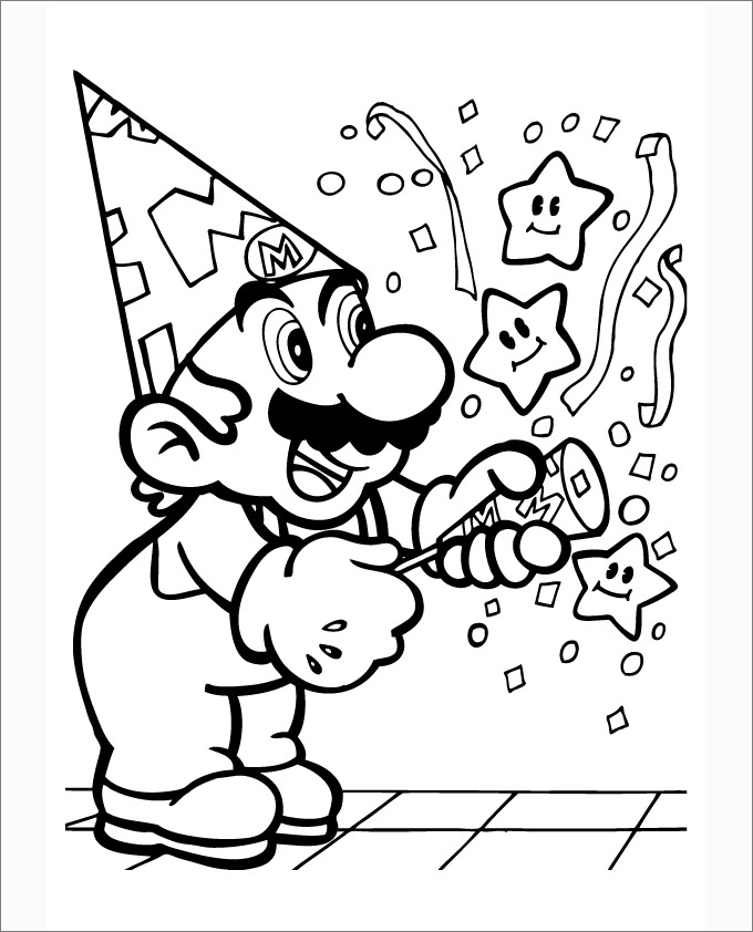 The Best Free Mario Coloring Page Images Download From 3218 Free