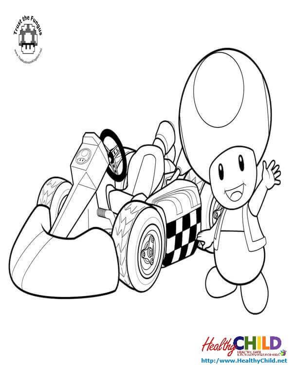 600x750 Mario Mushroom Coloring Page, Mario Bros Mario Luigi Mushroom