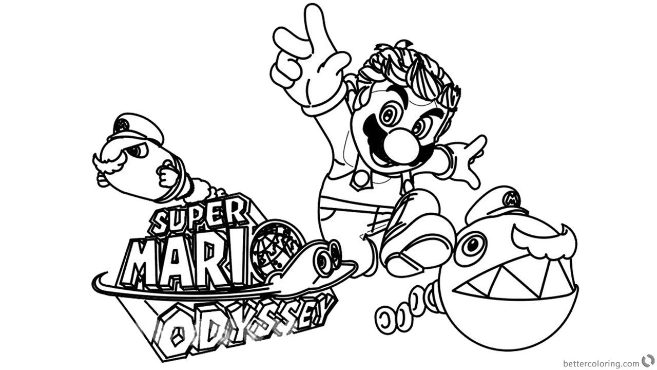 1280x720 Funny Super Mario Odyssey Coloring Pages Clipart