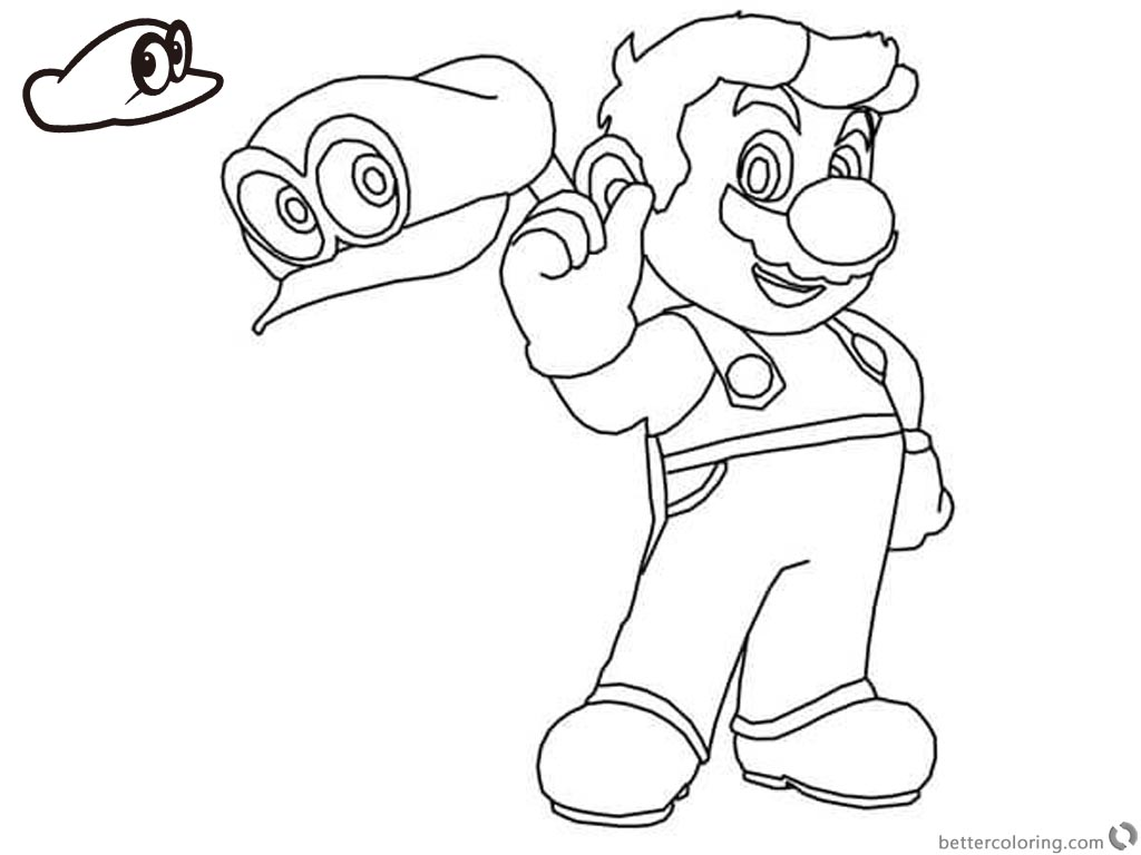 1024x768 Super Mario Odyssey Coloring Pages
