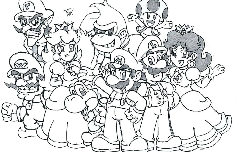 Mario Odyssey Coloring Pages at GetDrawings | Free download