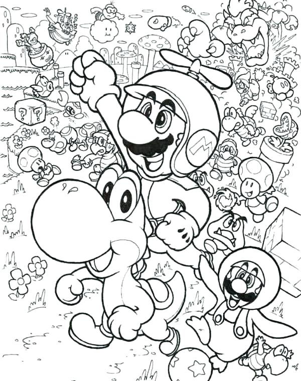 600x760 Free Printable Super Mario Coloring Pages Color Sheets Free