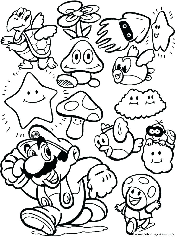 736x986 Mario Party Coloring Pages Super Printable Bros Ideas