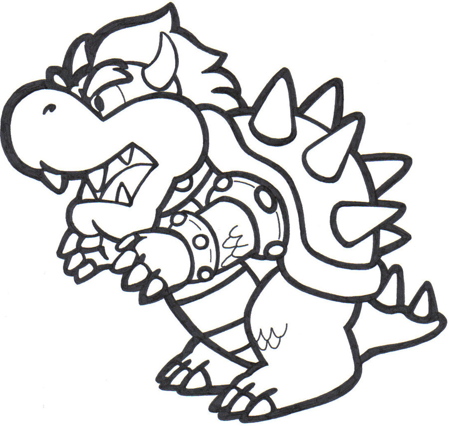 900x855 Mario Bowser Coloring Pages