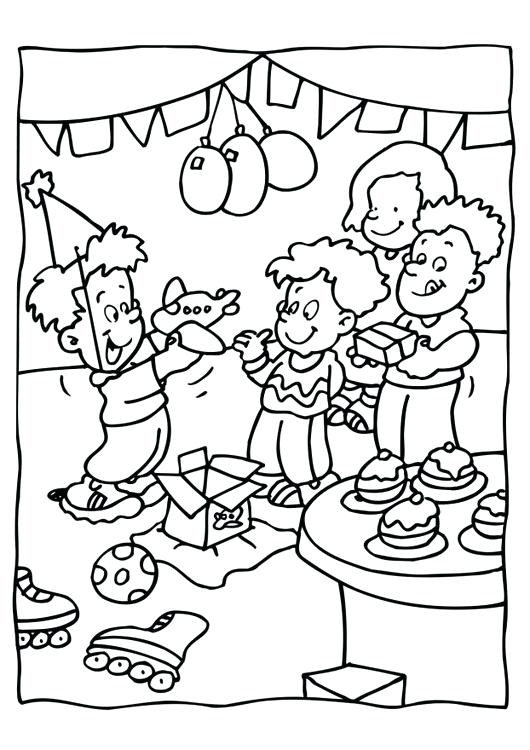 530x750 Party Coloring Pages Pizza Party Coloring Sheets Color Page Pages