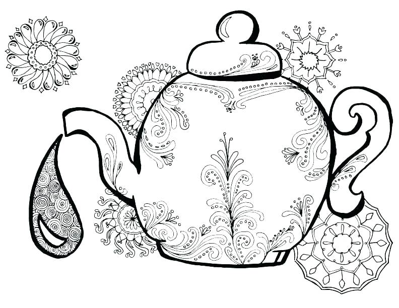 792x612 Party Coloring Pages Tea Party Coloring Pages Tea Coloring Pages