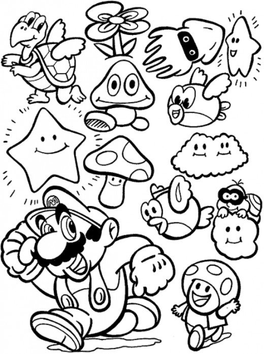 super mario bros coloring pages | Super mario coloring pages ... | 698x520