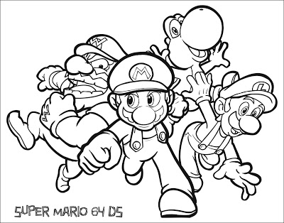 400x314 Jimbo's Coloring Pages Super Mario Coloring Pages