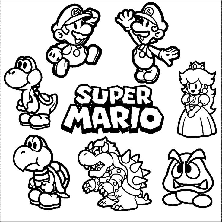 Mario Party Coloring Pages