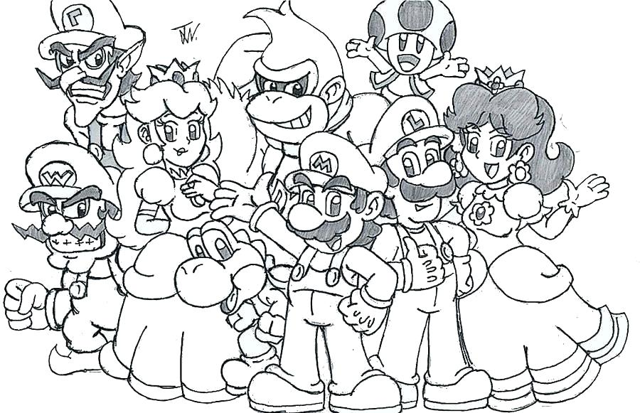 Mario Party Coloring Pages At Getdrawings Free Download