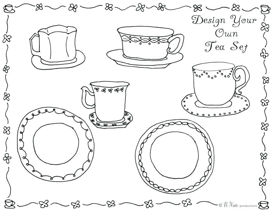 940x716 Party Coloring Pages Tea Party Coloring Page Tea Party Tea Party