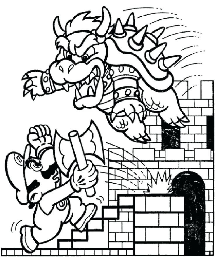 Mario World Coloring Pages