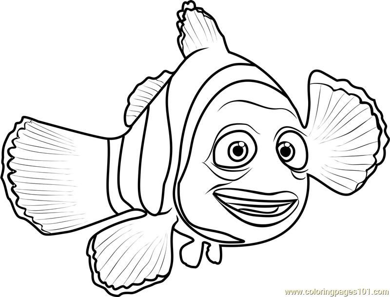 800x609 Marlin Coloring Page
