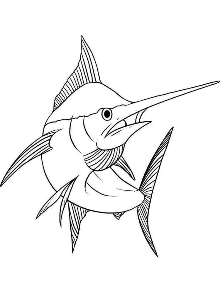 750x1000 Marlin Coloring Pages Download And Print Marlin Coloring Pages