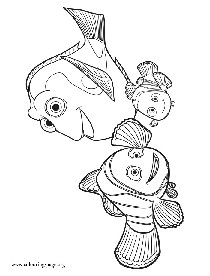 700x918 Finding Dory Marlin Nemo And Dory Coloring Page