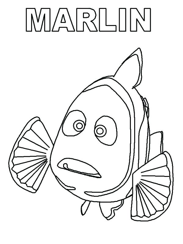 600x800 Finding Nemo Characters Coloring Pages