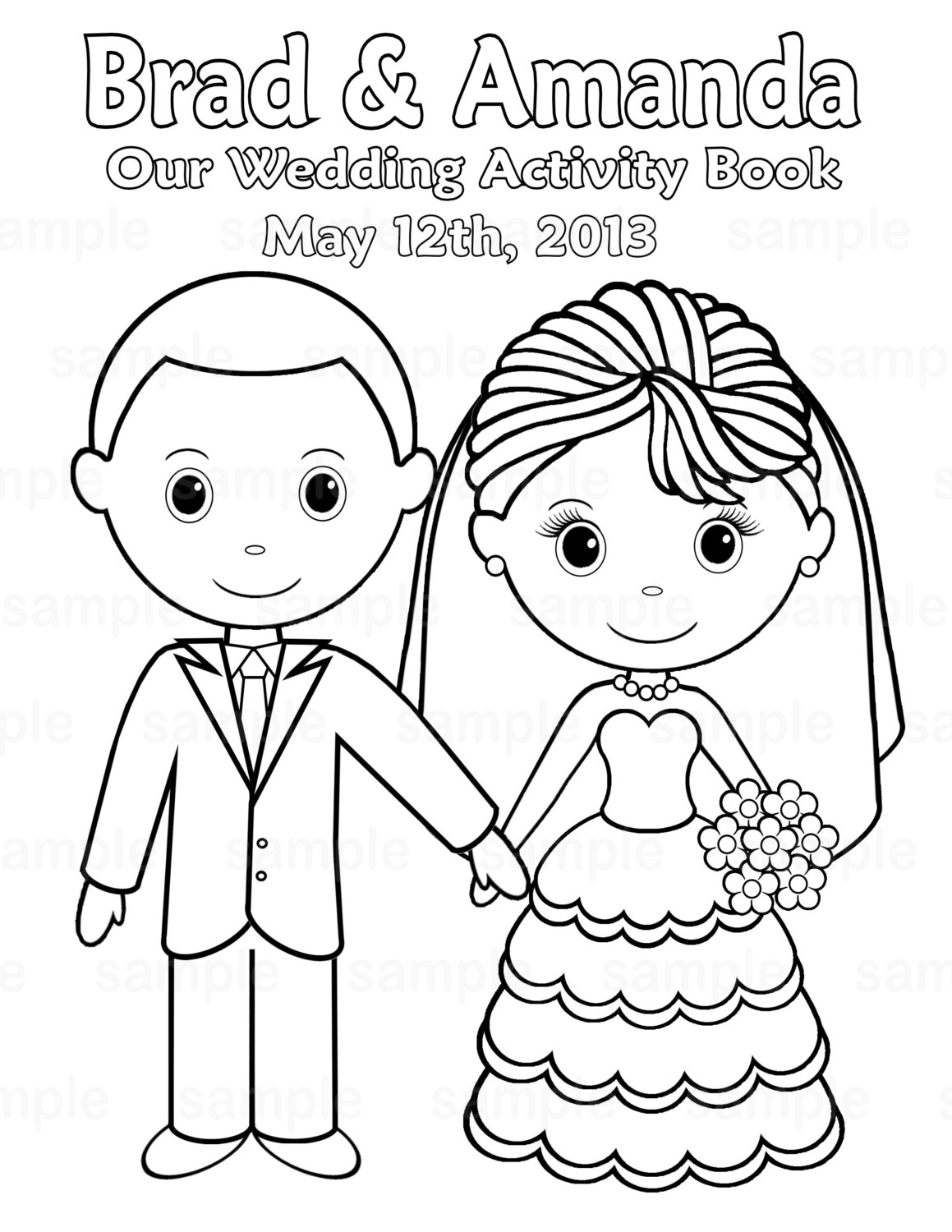 Marriage Coloring Page at GetDrawings.com | Free for personal use ...