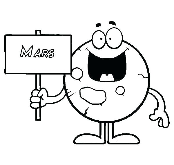 600x569 Mars Coloring Pages S Mars Coloring Pages Free