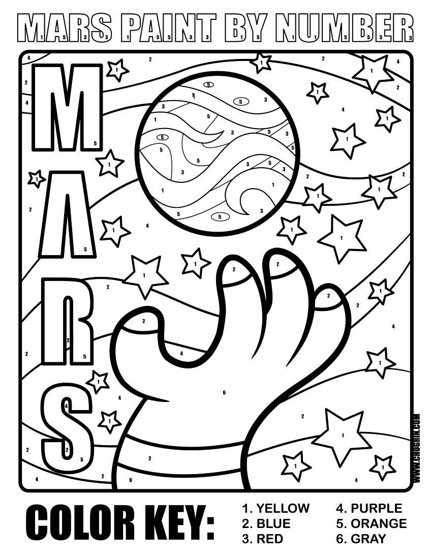 850x1100 Planet Mars Printables Coloring Page Eceap Planets