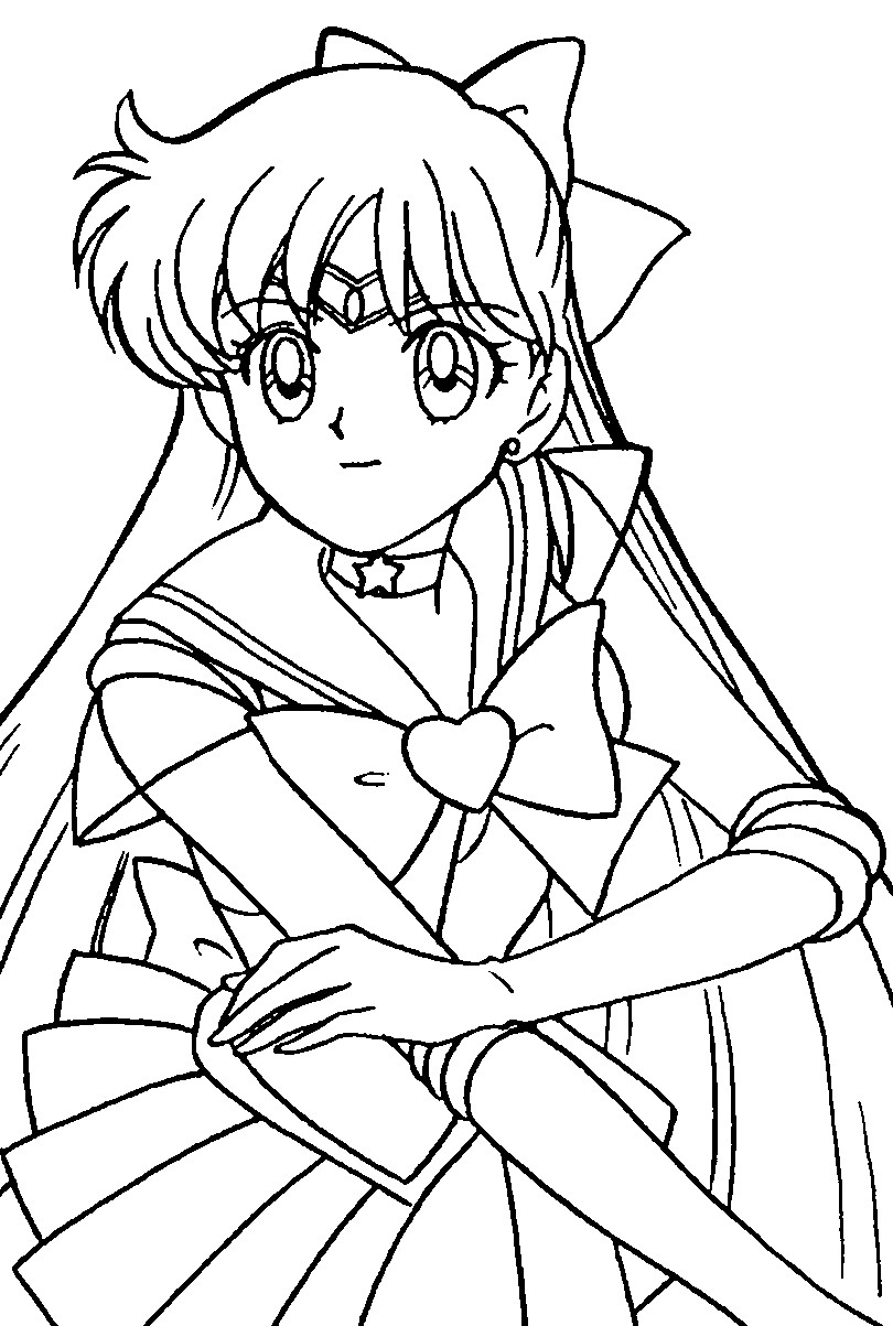 810x1203 Sailor Mars Coloring Pages