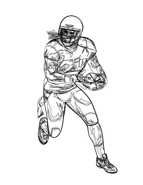 500x647 Marshawn Lynch Coloring Pages