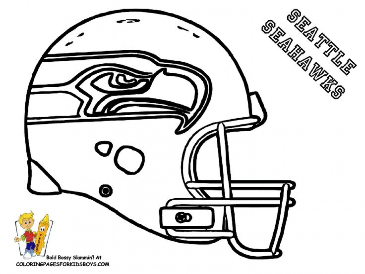 1280x960 Seahawks Nfl Teams Coloring Pages For Kids