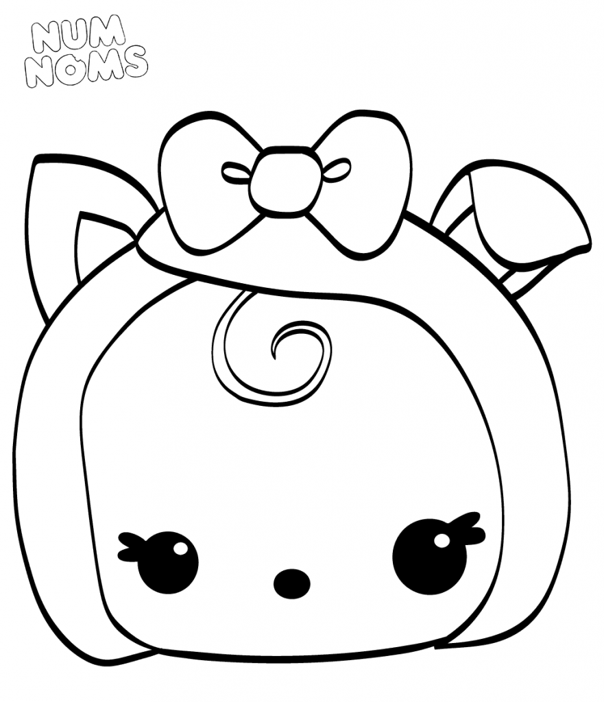 Marshmallow Coloring Pages At Getdrawings Com Free For