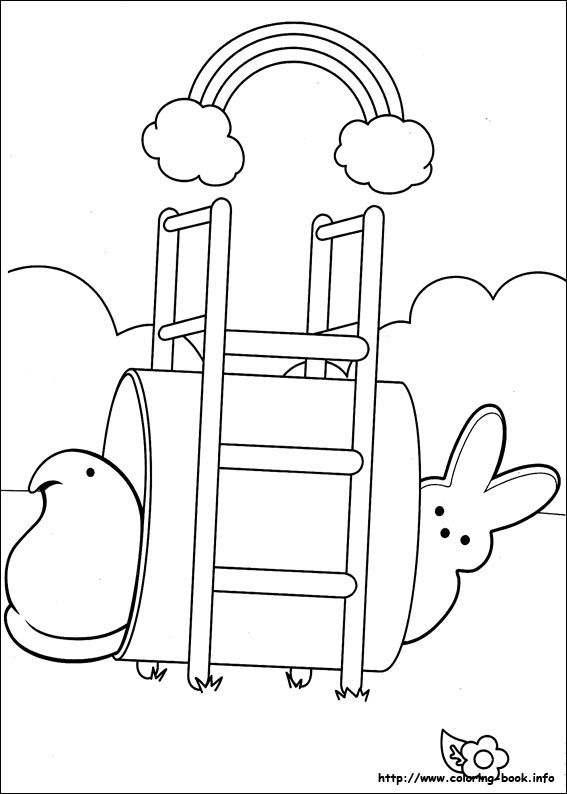 Marshmallow Peeps Coloring Pages