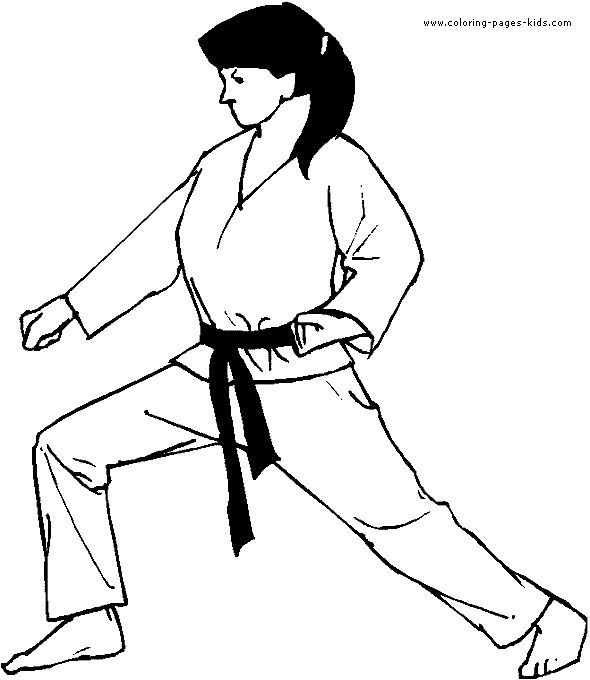 Martial Arts Coloring Pages At Getdrawings Com Free For Personal