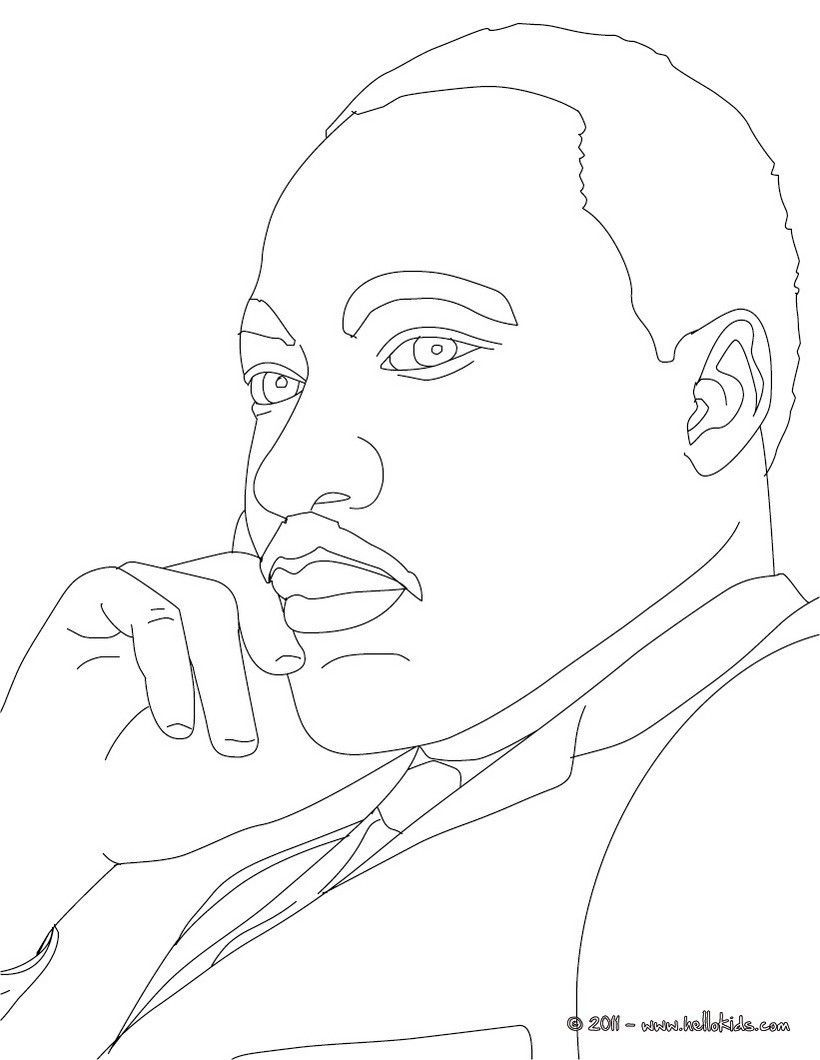Martin Luther Coloring Page