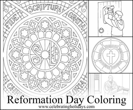 455x375 Coloring Pages For Reformation Day Celebrating Holidays