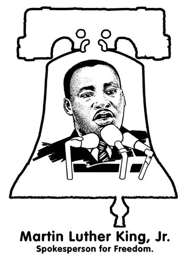 600x843 Martin Luther King Coloring Pages Free