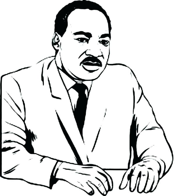 600x673 Martin Luther King Coloring Pages Free Coloring Pages Free