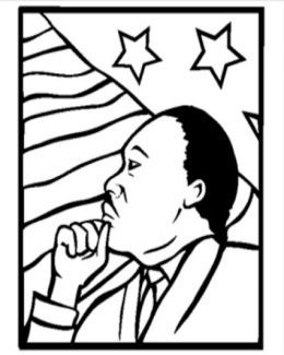 260x325 Martin Luther King Jr Coloring Pictures Pages For Use