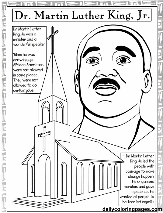 536x698 Mlk Coloring Page Martin King Jr Pages Free For Kids Pertaining