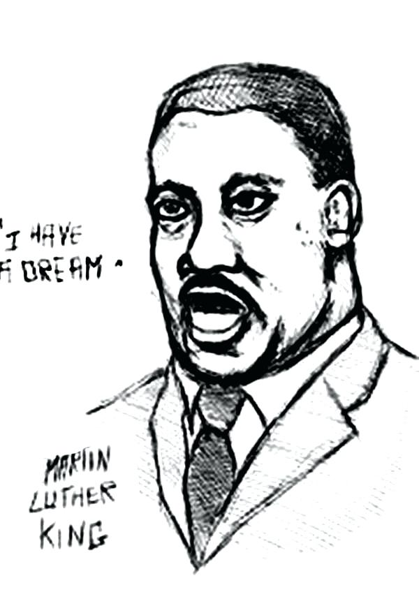 600x848 Mlk Coloring Pages Free Funy Martin Luther King Jr Coloring Pages