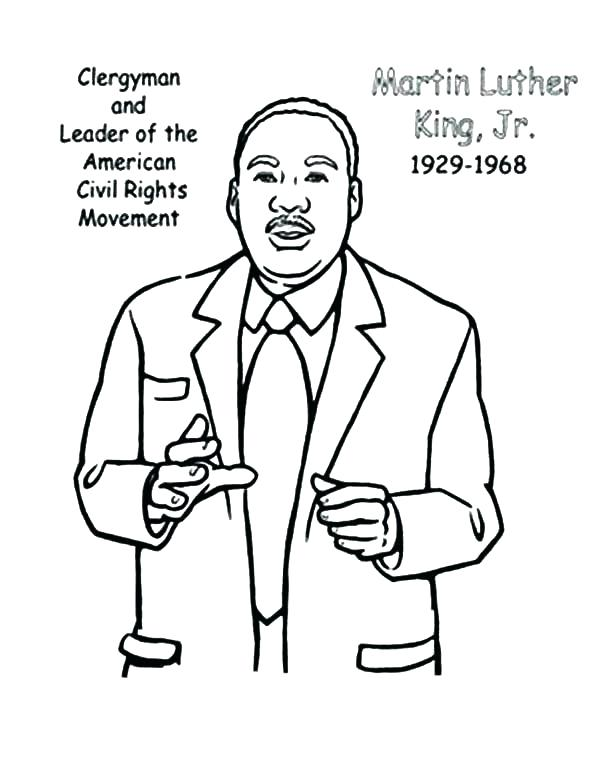 600x775 Coloring Pages Of Martin Luther King Jr Martin King Coloring Pages