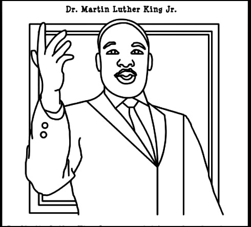 490x444 Free Martin Luther King Coloring Pages Martin Luther King Coloring
