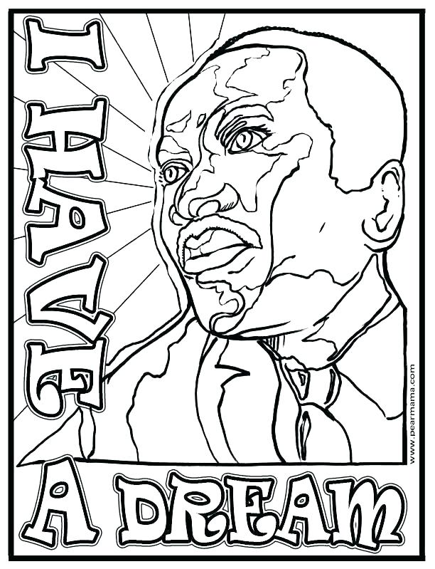 612x799 Free Printable Martin Luther King Coloring Pages Free Martin King