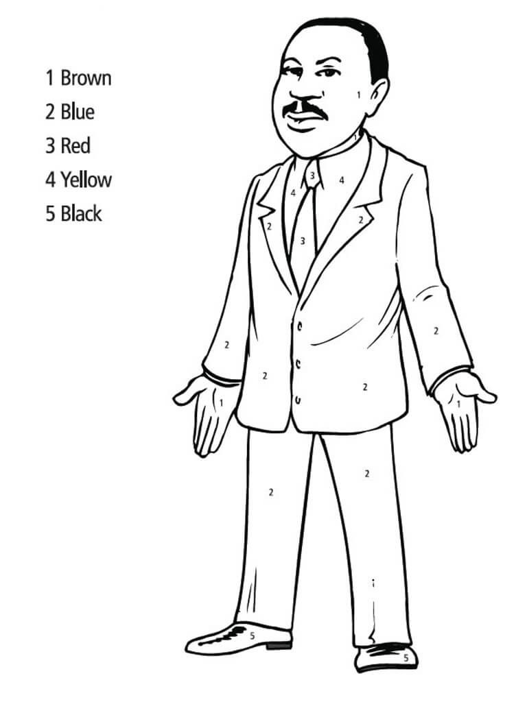 768x1024 Free Printable Martin Luther King Jr Day Coloring Pages Mlk
