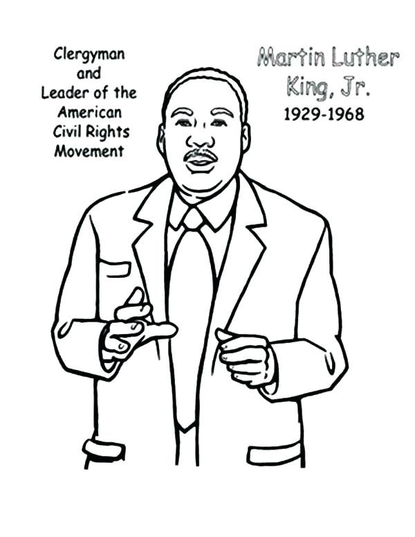 600x775 Martin Luther Coloring Page Coloring Pages Free Civil Rights