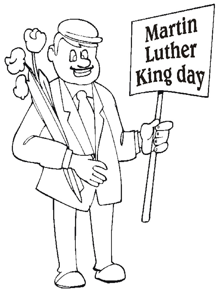 768x1024 Martin Luther King Day Realistic Coloring Pages Coloring Pages