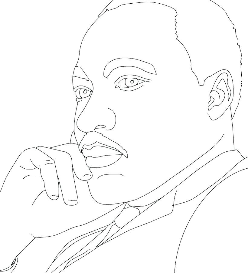 820x900 Martin Luther King Jr Coloring Page Jr Day Dr Martin Luther King