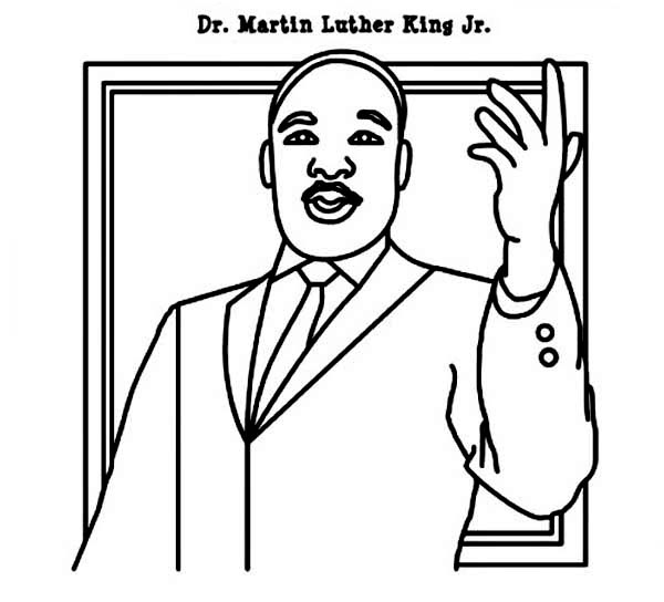 600x544 Martin Luther King Jr Coloring Pages