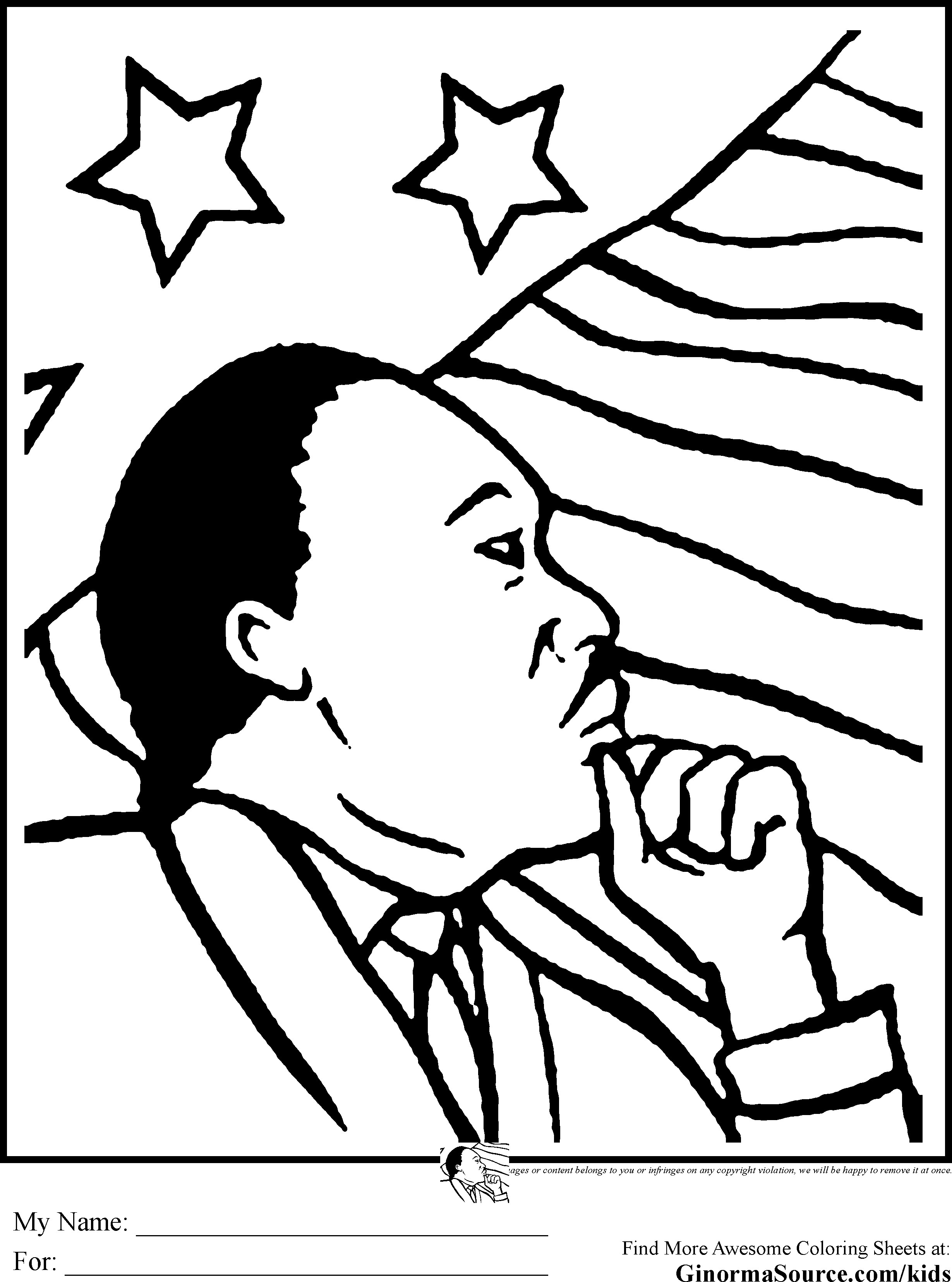 2459x3310 Mlk Coloring Pages Printable Image