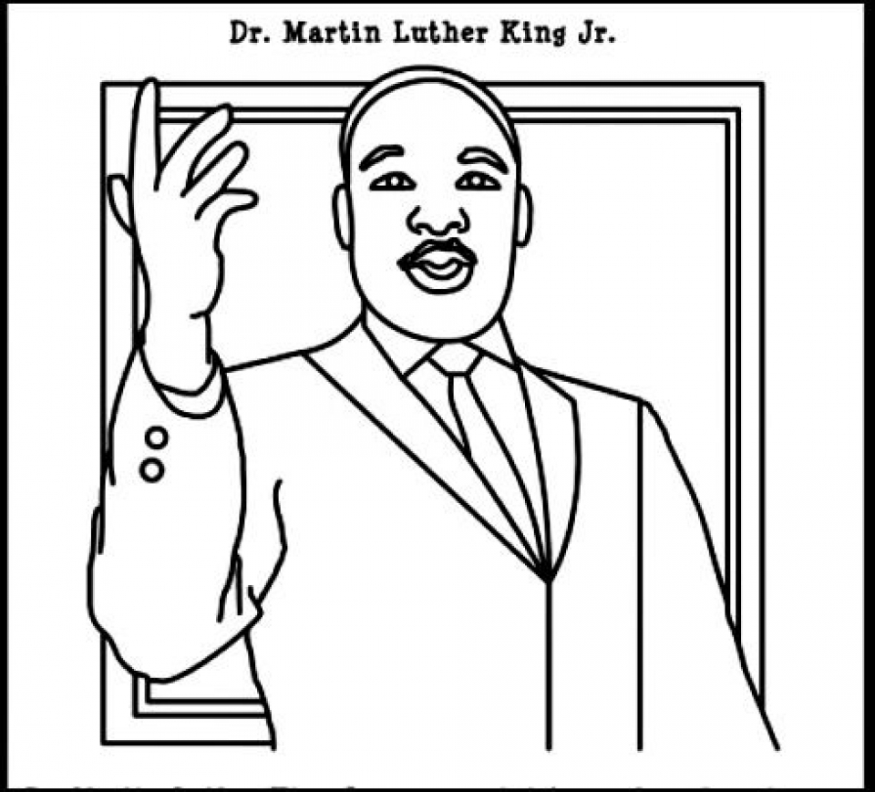 960x869 Online Martin Luther King Jr Coloring Pages To Print Swsyq Inside